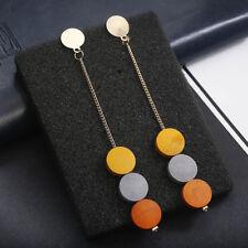 Hot Coloured Round Wood Drop Earrings Tassel Earrings Party Jewelry Gift Elegant