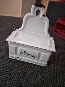 French Antique Allumettes Tin Kitchenalia