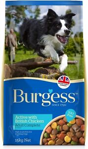 Burgess Active Complete 15kg Chicken and Beef Adult Dog FREE NEXT DAY DELIVERY