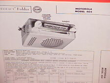 1955 MOTOROLA AM RADIO SERVICE MANUAL MODEL 404 CHEVROLET FORD CHRYSLER DODGE
