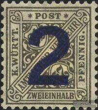 Württemberg D257 (kompl.Ausg.) Gefälligkeitsentwertung gestempelt 1919 Ziffern i