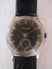 Vintage rare hand winding stainless steel Eterna men's watch original dial 1940s