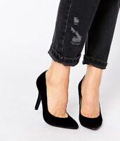 Pauline Womens Ladies Black Heeled Court Evening Dress Shoe, UK Size 3 4 5 6 7 8