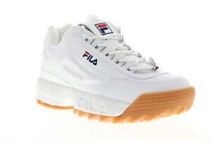 Fila Disruptor II Premium Mens White Synthetic Casual Lifestyle Sneakers Shoes