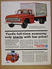 1962 Ford F-600 F600 Truck color illustration art vintage print Ad