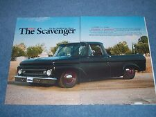 "1962 Ford F-100 Pickup Article ""The Scavenger"" F100 Unibody"