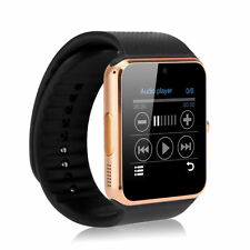"""Gold 1.54"""" GT08 Touch Screen Bluetooth Smart Watch Phone Mate Android iOS"""