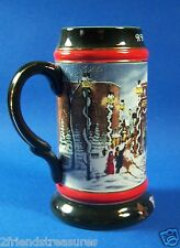 1992 Budweiser Beer Stein A Perfect Christmas #13 in Series Clydesdale Winter