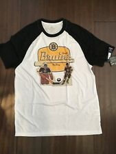 Boston Bruins NEW Men's Medium Table Top Baseball T-Shirt . NHL Hockey Tee NWT