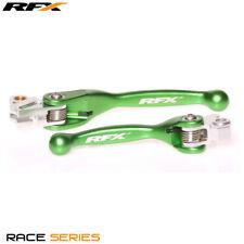 New RFX Flexi Brake & Clutch Levers Green KXF 250 450 04-12 YZ 125 250 01-07