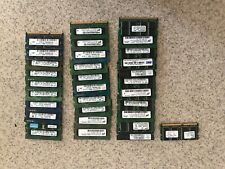 lot of assorted laptop ram, some pc2 mostly pc3 2gb