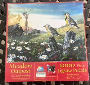 Meadow Outpost Art by Terry Doughty SunsOut 1000 pc puzzle 71131