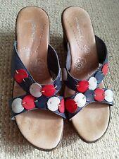 Pair of Ladies/Womens Moshulu Wedge Sandals Size EU 41