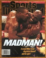 Boxing EVANDER HOLYFIELD Autograph Signed 1997 Sports Illustrated Tyson Ear Bite