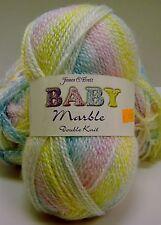JAMES C. BRETT BABY MARBLE DOUBLE KNIT YARN Shade BM2 Dye 143