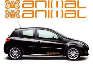 Large Animal Graphic x2 Vinyl Car/Van Surf Stickers/Decals