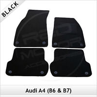Audi A4 Avant Estate B7 2006-2008 Tailored Carpet Car Floor Mats BLACK