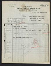 """ROUBAIX (59) USINE / FILATURE FIL Lebaufil """"LEPOUTRE & WIBAUX"""" en 1936"""