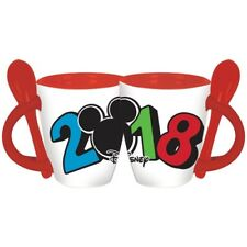 Disney 2018 Simply Dated Mickey Mouse Head Espresso Spoon Mug with Spoon