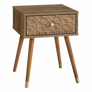 """Monarch Specialties-ACCENT TABLE - 20""""H / WALNUT MID-CENTURY WITH A DRAWER"""