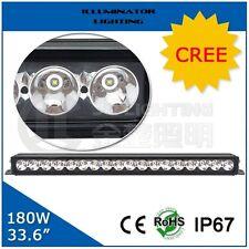 "180w SPOT Beam LED Light Bar 18 x CREE X-ML2 10w. 33.6"". 2 Mounting Options IP67"