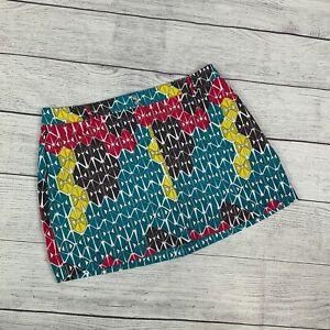 Slazenger 14 Skort Shorts Under Skirt Golf Activewear Colorful Pattern Teal