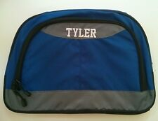 Pottery Barn Kids Small Colton Blue Gray Duffle Bag with name TYLER New