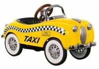"""Pedal Car Taxi Checker Cab """"Too Small To Ride On"""" Mini Metal Collector Model"""