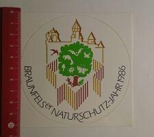 Aufkleber/Sticker: Braunfelser Naturschutz Jahr 1986 (201116158)