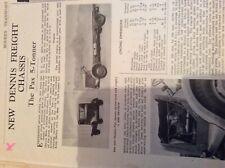 A2w Ephemera 1940s Article Dennis chassis pax 5 tonnet