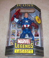 "MARVEL LEGENDS Icons Collection_CAPTAIN AMERICA 12 "" figure_Variant Unmasked_MIB"