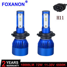 H11 10000LM 72W Mini LED Car Headlight Head COB Bulb Light 12V Car Light 6500K