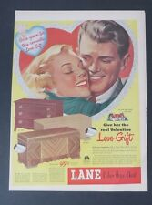 Original Print Ad 1948 LANE Cedar Hope Chest Love-Gift Vintage Art