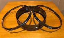 World Max Black Brass 14 x 4 Virgin Snare drum shell 2 Rims/Hoops Not drilled!!!