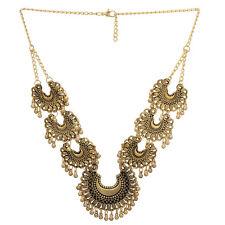 Jwellmart Indian Trendy Oxidized Gold Gypsy Tribal Choker Statement Necklace