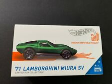 Hot Wheels ID Lamborghini Miura SV 71 Green Limited Edition 1/64 SA1