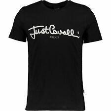 JUST CAVALLI Black Logo T Shirt. Size XL