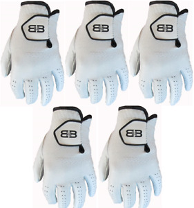 5 Back to Back Players 100% Cabretta Leather Golf Gloves Mens Gents