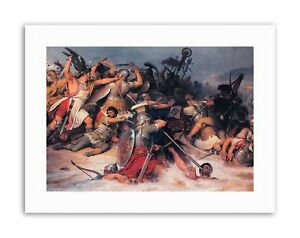 MILITARY TUSHAUS ROMAN GERMAN BATTLE RHINE Painting Canvas art Prints