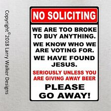 NO SOLICITING Aluminum Sign New Cool