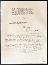 1926 - Lithographie citation M. Ch. Schwab, Amiral Wilson, Gén. William Crozier