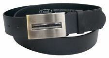 Ossi Mens Womens Plain Leather Belt for Jeans Casual Waist Vintage Buckle Gift