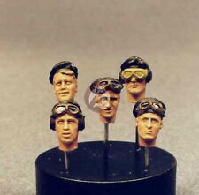 Resicast 1/35 British Tank Crew Heads with Berets (5 Different Heads) 355561