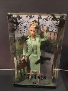 "BARBIE "" THE BIRDS""  ALFRED HITCHCOCK'S  DOLL BLACK LABEL COLLECTORS EDITIO NIB"