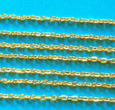1m of Fine/medium gold plated flat trace chain (cut to 1 metre lengths)