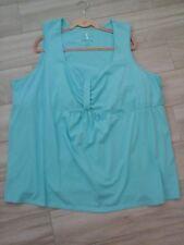 Serenada Women Solid Aqua Green Sleeveless Knit SleepTop    Plus Size 5X(34/36W)