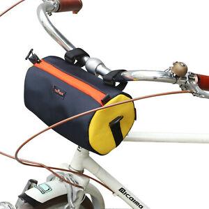 TOURBON Bike Handlebar Bag Bicycle Front Tube Pouch Tool Storage Pack Waterproof