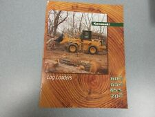 Kawasaki 60Z, 65Z, 65Tm & 70Z iv series Log Loaders Literature 8 Pages