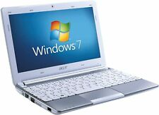 Upgraded White Acer Aspire ONE D257 2GB RAM 320GB HDD  Windows 10, Clean