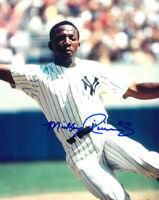 Mickey Rivers signed New York Yankees 8x10 Photo (sliding)